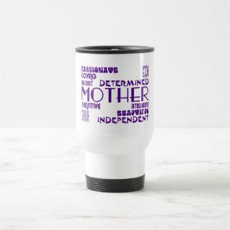 Mamans féminines modernes et mères chics et mug de voyage en acier inoxydable