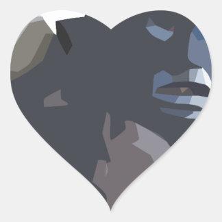 mamuthones sticker cœur