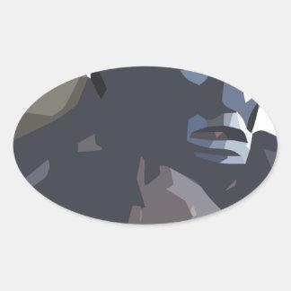 mamuthones sticker ovale