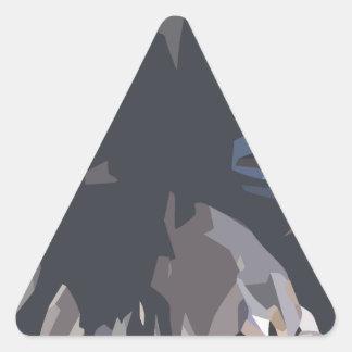 mamuthones sticker triangulaire
