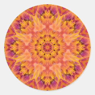 Mandala 06 de fleur autocollants