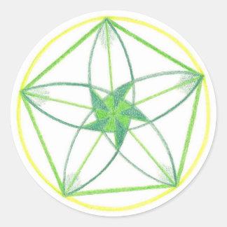 Mandala #2 de vitalité sticker rond