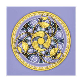 Mandala 5, toile enveloppée de cercle de culture toiles