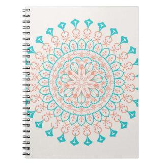 Mandala abstrait de couleurs en pastel carnet
