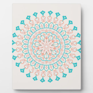 Mandala abstrait de couleurs en pastel plaque photo