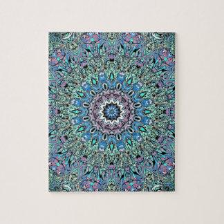 Mandala abstrait de turquoise puzzle