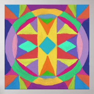 Mandala abstrait posters
