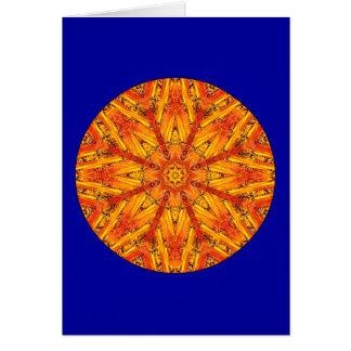 Mandala antique de cristal d'échos carte de vœux