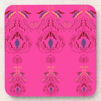 Mandala arabe rose dessous-de-verre