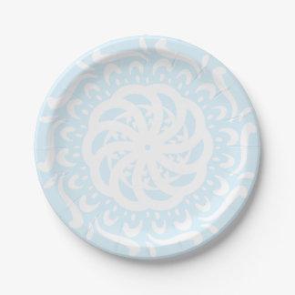 Mandala arctique assiettes en papier