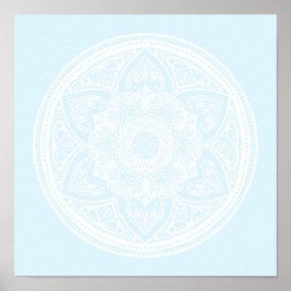 Mandala arctique poster