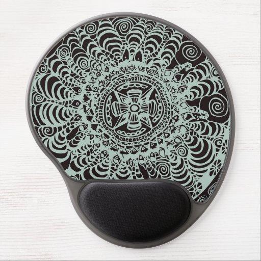 mandala azt que noir et blanc tapis de souris avec gel. Black Bedroom Furniture Sets. Home Design Ideas