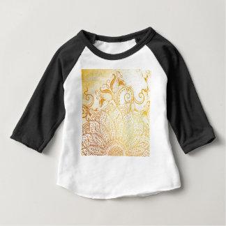 Mandala - brosse d'or t-shirt pour bébé