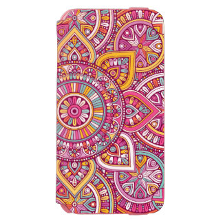 Mandala coloré coque-portefeuille iPhone 6 incipio watson™
