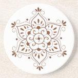 Mandala Coster de henné Dessous De Verre