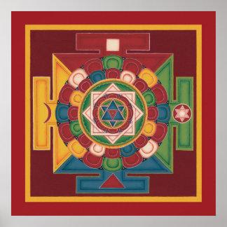 Mandala d AFFICHE de 5 éléments - commence à parti