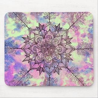 Mandala d'arbre de galaxie tapis de souris