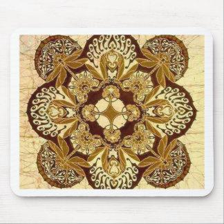 Mandala de batik en Brown et Tan Tapis De Souris