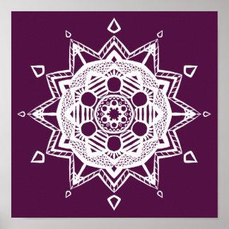 Mandala de Blackberry Poster