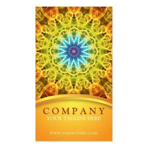 Mandala de bouquet de fleur cartes de visite professionnelles