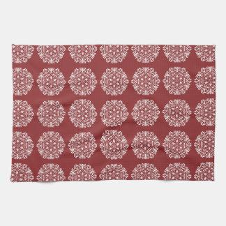 Mandala de canneberge serviette pour les mains