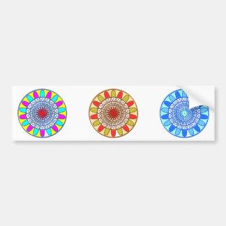 Mandala de Chakra de TOURNESOL Autocollant De Voiture