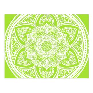 Mandala de chaux carte postale