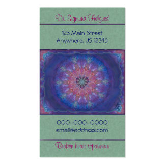Mandala de coeur cartes de visite personnelles