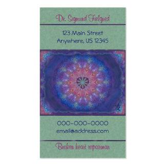 Mandala de coeur carte de visite standard
