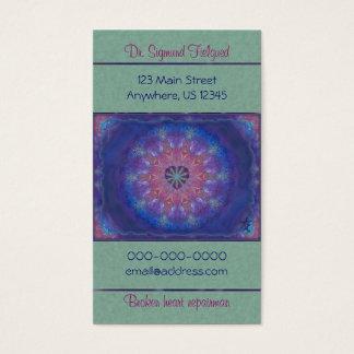 Mandala de coeur cartes de visite