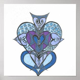 Coloriage de mandala c ur pour colorier mandala de coeur - Mandala de coeur ...