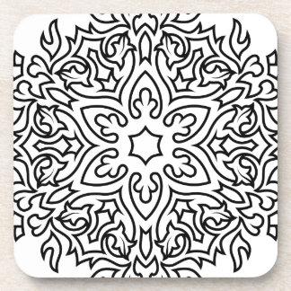 Mandala de concepteurs noir et blanc dessous-de-verre