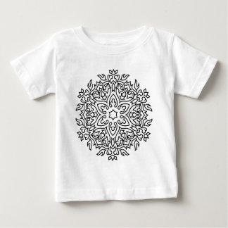 Mandala de concepteurs noir et blanc t-shirt pour bébé