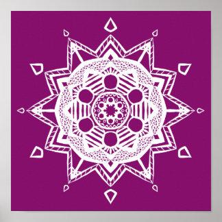 Mandala de dahlia poster