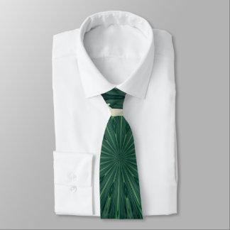 Mandala. de feuille verte et argentée de cravates