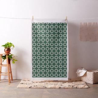 Mandala de feuille verte et argentée de Sacramento Tissu