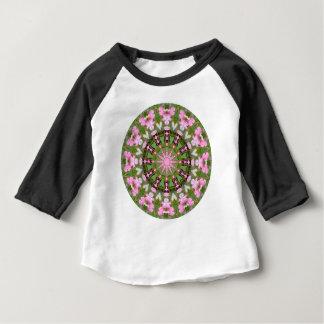 Mandala de fleur, défenseurs de la veuve et de t-shirt pour bébé