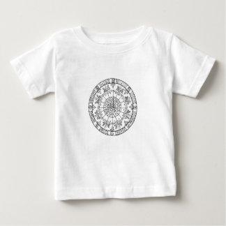 Mandala de fleur t-shirt pour bébé