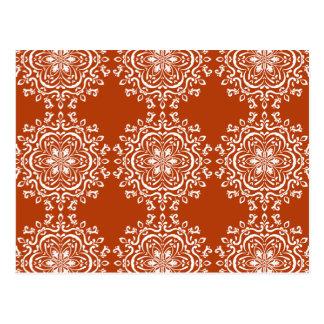 Mandala de henné carte postale