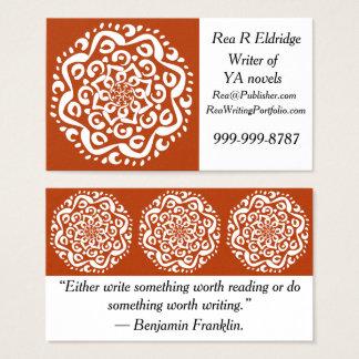 Mandala de henné cartes de visite