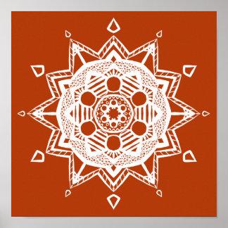 Mandala de henné poster