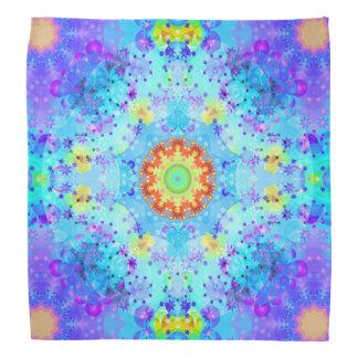 Mandala de hippie d'étoile bleue modelé bandanas