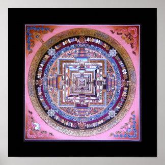 Mandala de Kalachakra Poster