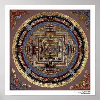 Mandala de Kalachakra une affiche