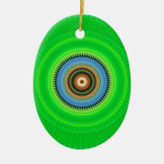 Mandala de kaléidoscope au Portugal : Motif 224,5 Ornement Ovale En Céramique