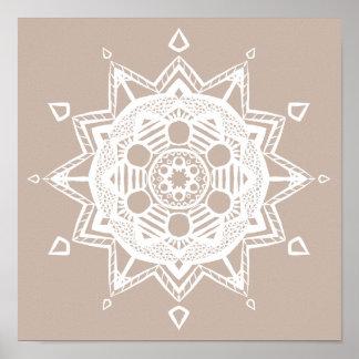 Mandala de laine poster