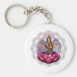 Mandala de Lakshmi de déesse Porte-clé Rond