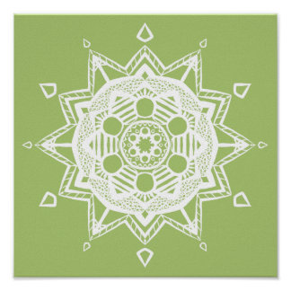 Mandala de lichen poster