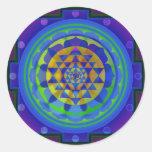 Mandala de l'OM (AUM) Yantra Autocollants