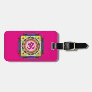 Mandala de l'OM Shanti OM Étiquette À Bagage